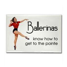 Funny Ballerina Rectangle Magnet > Funny Fridge Magnets > Cafe Pretzel T-Shirts & Gifts