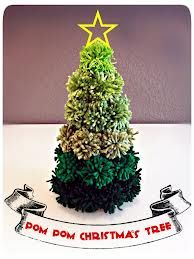 pom pom christmas tree - Google Search