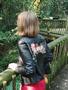 Hand Painted leather jackets with florals to match your wedding bouquet! Order your own custom leather jacket from marypaintsweddings.com :) Wedding Bouquet, Floral Wedding, Wedding Day, Painted Leather Jacket, Custom Leather Jackets, Wedding Painting, Wedding Details, Love Story, Florals