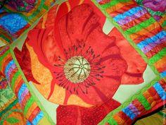 Купить лоскутные подушки с аппликациями МАКИ подушки декоративные - лоскутные подушки, лоскутная подушка