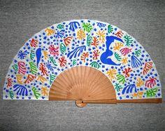 Abanico pintado a mano basado en una obra de Henri Matisse. Un abanico, una obra de arte. #abanicospintadosamano #abanicosmodernos #abanicoespañol #abanicosartesanales #regalosdeempresa