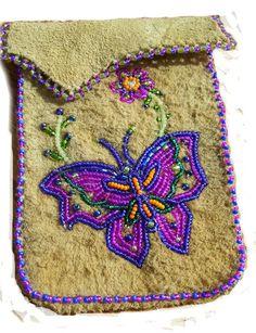applique on buckskin Native Beadwork, Native American Beadwork, Beaded Flowers Patterns, Beading Patterns, Beaded Purses, Beaded Bags, Beaded Moccasins, Beaded Banners, Beadwork Designs