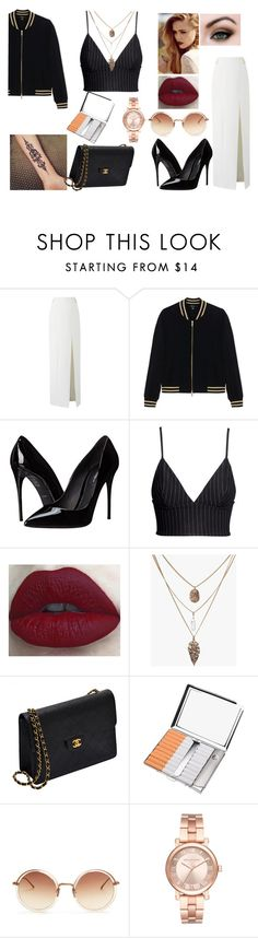 """Sem título #83"" by art-soul-fanfic ❤ liked on Polyvore featuring Amanda Wakeley, DKNY, Dolce&Gabbana, H&M, Chanel, Linda Farrow and Michael Kors"