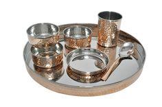 Dinnerware Stainless steel Copper Thali set | IKH101023 | $45.99