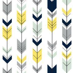 mint arrows cotton fabric - Google Search