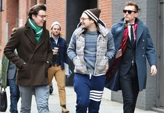 the overcoat on the right, and not giving a single fuck  tommy ton @ nyfw via gq