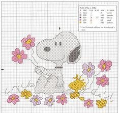 Schema punto croce Snoopy Maggio