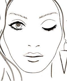 Blank Face Chart/1 eye closed
