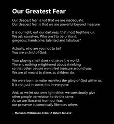 Coach Carter Our Deepest Fear Quotes Tattoo. QuotesGram