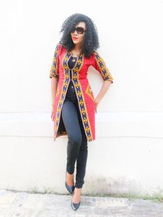 Latest collection of the best and trendy ankara jackets and ankara blazers styles there are out there. DO you love ankara blazers and jackets styles. African Tops For Women, African Dresses For Women, African Outfits, African Clothes, African Attire, African Wear, Nigerian Outfits, African Fashion Ankara, African Style