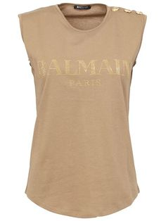 83b18571504 Shop Balmain logo tank in Tessabit from the world's best independent  boutiques at farfetch.com