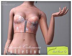 Imaginarium of Green: Intimate Outerwear Collection - Short Corset Top
