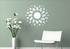 SRGindia Sunshine with Butterfly' Wall Mirror Sticker (Vinyl, 18 cm x 19 cm x 5 cm, Gold) Mirror Stickers, Wall Decor Stickers, Wall Decals, Pawan Kalyan Wallpapers, 3d Mirror, Butterfly Wall, Sunshine, India, Pure Products