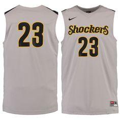 #23 Wichita State Shockers Nike Replica Master Jersey - Pewter - $74.99