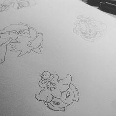 Pumpkaboo, Gourgeist and #Darkrai #pokemon #fanart #inktober #pumpkin #pumpkaboo #gourgeist #draw #art #drawing #nintendo #illustration #videogame #anime #manga #ghost #sketch #sketchbook #sketching #doodle #doodling