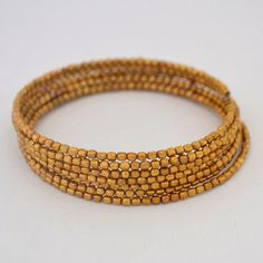 Bead wrap bracelet - perfect for laying or wearing on its own! Fair Trade Clothing, Beaded Wrap Bracelets, Bangles, Beads, My Style, How To Wear, Handmade, Jewelry, Women
