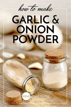 Homemade Onion and Garlic Powder