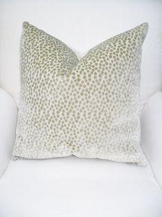 Scalamandre Prewashed CUT VELVET CHEETAH Design Pillow Cover. $40.00, via Etsy.