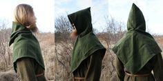 Hand sewn viking age woolen hood (Large type). Made by Henrik Nordholm.  https://www.facebook.com/pages/Henrik-Nordholm/254634504677319