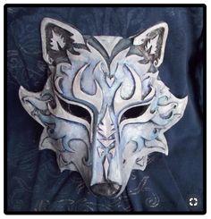 inspired Kindred Wolf Mask League of Legends Lol cosplay Larp, Maskerade Outfit, Wolf Maske, Mascara Oni, Paper Mache Mask, Ceramic Mask, Leather Mask, Venetian Masks, Animal Masks