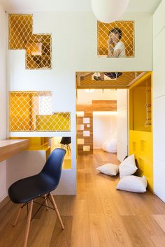 Home Designing — (via Amazingly Modular Small Family Apartment With...
