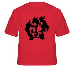Charmander Charmeleon Charizard Pokemon T Shirt