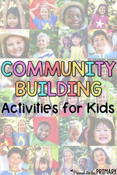 Quick activities and fun games for building classroom community in school. These community building activities for primary kids are great for a quick break to help students learn social skills and develop friendships. #communitybuilding #socialskills #classroommanagement #socialresponsibility #socialemotionallearning