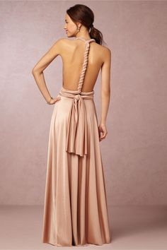 BHLDN Ginger Convertible Maxi Dress in  Bridesmaids Bridesmaid Dresses Convertible at BHLDN