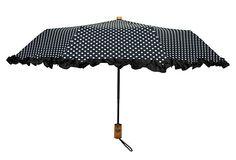 Compact Ruffle Umbrella, Dots on OneKingsLane.com