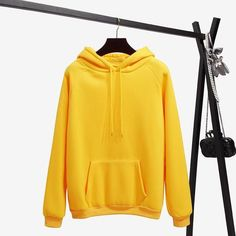 Autumn Winter Fleece Oh Yes Letter Harajuku Print Pullover Thick Loose Women Hoodies Sweatshirt Clothes Pink Casual Coat Size S Color Printed Sweatshirts, Hooded Sweatshirts, Fleece Hoodie, Pullover, Outfits Mujer, Yellow Hoodie, Black Hoodie, Loose Tops, Casual Tops