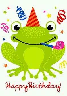 Cute Happy Birthday Frog birthday happy birthday happy birthday wishes birthday quotes happy birthday quotes birthday quote Free Printable Birthday Cards, Birthday Card Template, Kids Birthday Cards, Card Birthday, Birthday Ideas, Diy Birthday, Birthday Weekend, Printable Cards, Free Email Birthday Cards