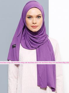 Abbigliameto Halal Islamico Negozio Online  #islamic #hijab #modest #fashion product  Jersey Combed Cotton Shawl - Purple - Rabia Z - Fabric Info:  100% Combed Cotton    Weight: 0.226 kg  Sizes:  Width: 75 cm  Height: 200 cm - SKU: 194363. Buy now at http://muslimas-shop.com/jersey-combed-cotton-shawl-purple-rabia-z194363.html