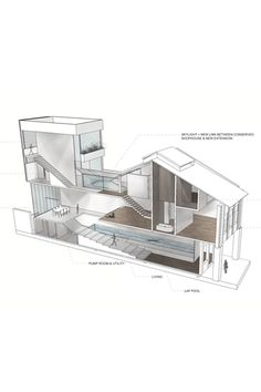 House N° 21- render 3d section