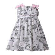 Bonnie Jean® Bow-Shoulder Printed Dress – Baby Girls newborn-24m