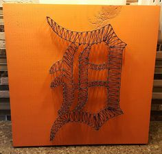 Detroit Tigers nail string art