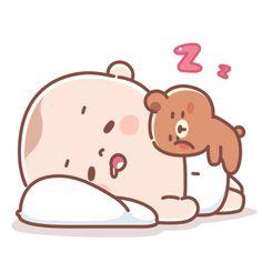 Cartoon Gifs, Baby Cartoon, Cute Cartoon, Mental Map, Minimal Drawings, Korean Stickers, Night Night, Funny Bunnies, Doraemon