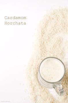 Cardamom Horchata ~ Savory Simple (horchata is Mexican rice milk) Cocktails, Non Alcoholic Drinks, Cocktail Drinks, Fun Drinks, Yummy Drinks, Beverages, Smoothie Drinks, Smoothies, Comida Latina