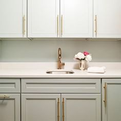 The Pulls On Cabinets Are Way Too Lewis Dolin Round Bar Pull