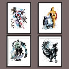 Star wars movie poster, Star Wars poster, Star War print, set of 4 prints, Darth Vader, Yoda, Stormtrooper, R2D2, 3CPO, Kids Decor, 3533 by Uniquedrawing on Etsy https://www.etsy.com/listing/259143322/star-wars-movie-poster-star-wars-poster