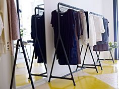 thinking about spaces without closit. love this exposed look: IKEA Clothing  rack Turbo