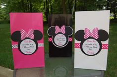 Personalized+Minnie+Mouse+Inspired+Pink+Black+and+by+PoppinParties,+$15.00