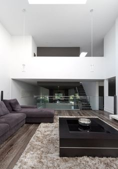 love everything about this..floors, hand rail.. openness..