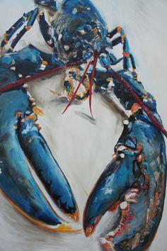 Lobster Blue , Giclée print by Michelle Parsons | Artfinder