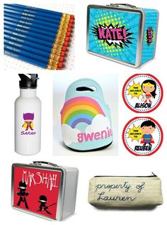 Cool personalized back to school supplies for kids all on Etsy