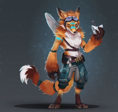 Fox Warrior, Romina Scagliarini on ArtStation at https://www.artstation.com/artwork/n2ebE