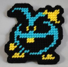 The Blue Virus from Doctor Mario on the NES. Check out other things I've made on my website: http://www.crafts.geek-craft.com