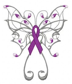 butterfly pink ribbon embroidery design - Google Search