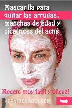 Mascarilla para quitar las arrugas, manchas de la edad y cicatrices de acné. ¡Receta muy fácil y eficaz!