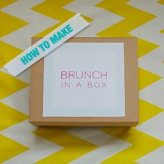 How To Make Brunch In A Box for your guests after the wedding. A great way to thank them for celebrating with you. Day of idea as well