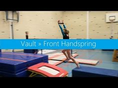 Vault preps » Working towards a Front Handspring - YouTube